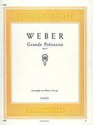 Grande polonaise op. 21 / Carl Maria von Weber / Schott