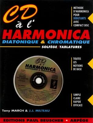 CD à l'harmonica diatonique et chromatique / Milteau J.J. / March T. / Paul Beuscher