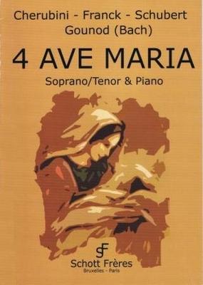 Quatre célèbres Ave Maria /  / Schott