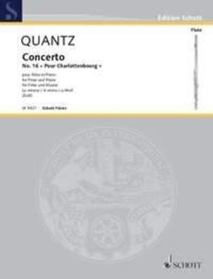 Concerto en la mineur op. 16 / Quantz Johann Joachim / Schott