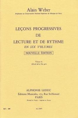 Leçons progressives de lecture et de rythme, vol. 2 / Weber Alain / Alphonse Leduc