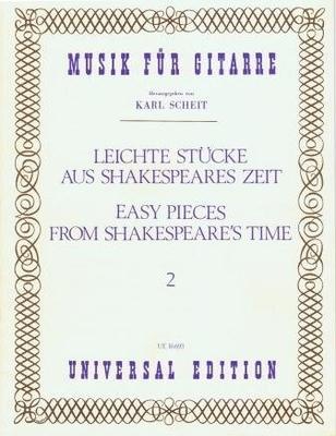 Pièces faciles de l'époque shakespearienne, vol. 2 / Karl Scheit / Universal Edition