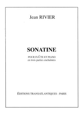 Sonatine Flûte et piano / Jean Rivier / Transatlantiques