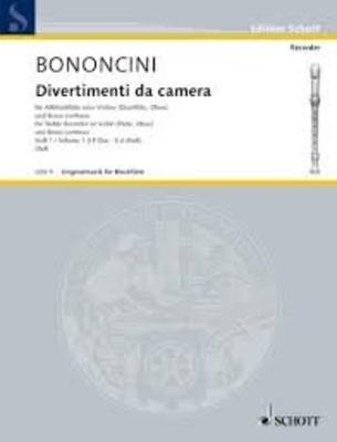 Originalmusik für Blockflöte (OFB) / Divertimenti da camera, vol. 1 / Giovanni Battista Bononcini / Hugo Ruf / Schott