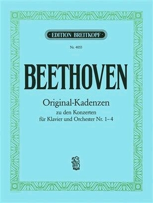 Cadences originales pour concertos 1 à 48 Kadenzen zu Konz.Nr.1,2,3,4 / Beethoven Ludwig van / Breitkopf