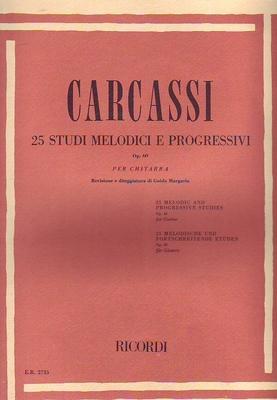 25 études mélodiques et progressives op. 60 / Carcassi Matteo / Ricordi