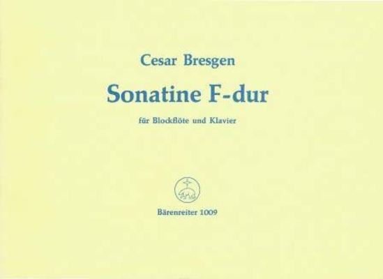 Sonatine en fa majeur / Bresgen César / Bärenreiter