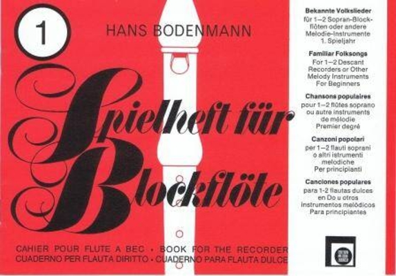 Spielheft für Blockflöte, vol. 1 / Bodenmann Hans / Melodie