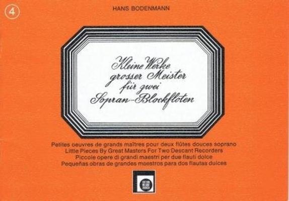 Kleine Werke grosser Meister, vol. 4 /  / Melodie