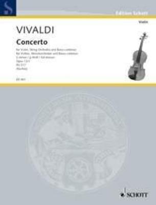 Concerto en sol mineur op. 12 no 1 RV 317 / Antonio Vivaldi / Schott