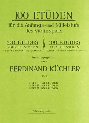 100 études op. 6, vol. 1 / Küchler Ferdinand / Hug