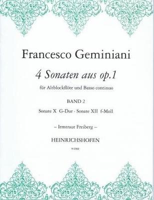 4 sonates de l'op. 1, vol. 2 / Geminiani Francesco / Noetzel
