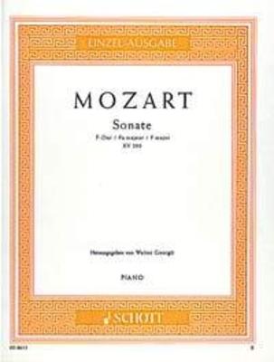 Sonate en fa majeur KV 280 / Wolfgang Amadeus Mozart / Schott