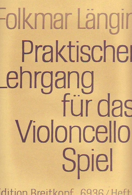 Praktischer Lehrgang für das Violoncello Spiel, vol. 3 / Längin Folkmar / Breitkopf