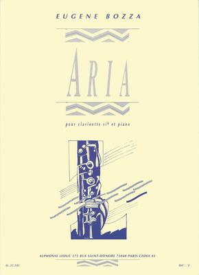 Aria pour clarinette en Sib et piano / Eugène Bozza / Leduc