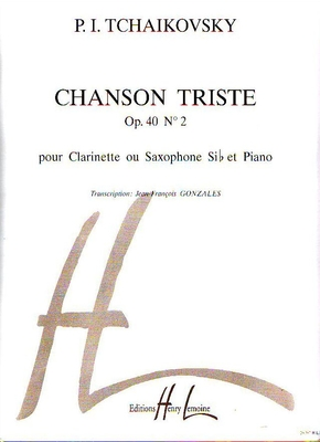 Chanson triste op. 40 no 2 / Tschakovsky Peter Illitch / Henry Lemoine