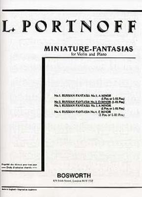 Leo Portnoff: Russian Fantasia No.2 In D Minor For Violin And Piano / Leo Portnoff / Bosworth