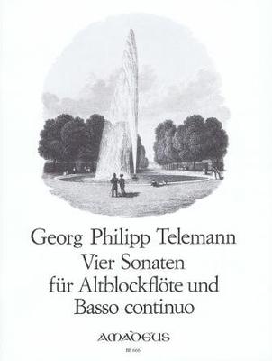 4 sonates »Der getreue Musikmeister» 4 Sonaten  TWV 41:C2,F2,f1,B3 / Telemann Georg Philip / Amadeus