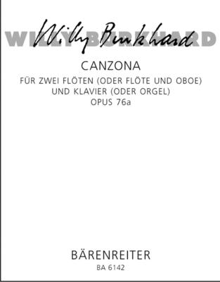 Canzona  Willy Burkhard  Oboe und Klavier Partitur + Stimmen  BA6142 / Burkhard Willy / Bärenreiter