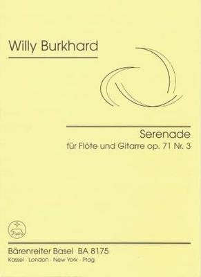 Sérénade op. 71 no 3 / Burkhard Willy / Bärenreiter