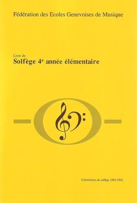 Solfège 4ème année élémentaire /  / Conservatoire GE