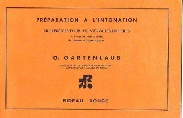 Préparation à l'intonation / Gartenlaub O. / Rideau rouge
