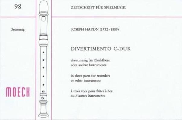 Divertimento en do majeur / Haydn Joseph / Moeck