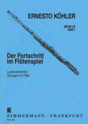 Der Fortschritt im Flötenspiel op. 33 vol. 1 / Köhler Ernesto / Zimmermann
