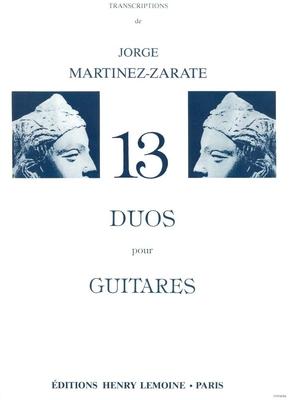 Duos de musique française MARTINEZ-ZARATE Jorge /  / Henry Lemoine