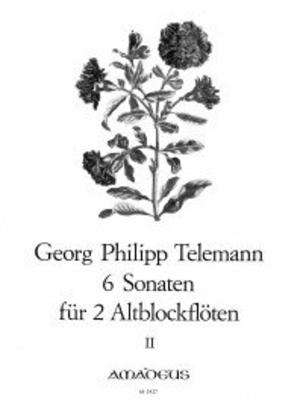 6 sonates op. 2 vol. 2 (4-6) Sechs Sonaten  TWV 40:104-106 – Band II: Sonaten 4-6 / Telemann Georg Philip / Amadeus