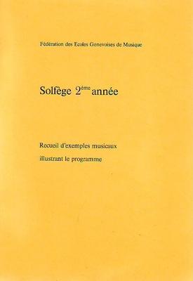 Solfège 2ème année exemples musicaux /  / Conservatoire GE
