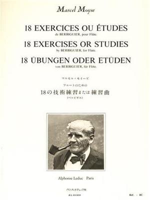 18 exercices ou études Marcel Moyse / Berbiguier Benoist Tranquille / Leduc