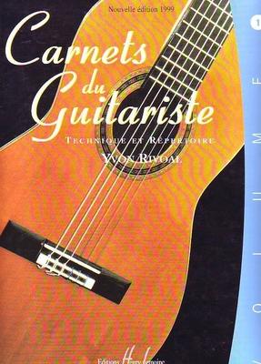 Carnets du guitariste No 1 Débutants / Rivoal Yvon / Henry Lemoine
