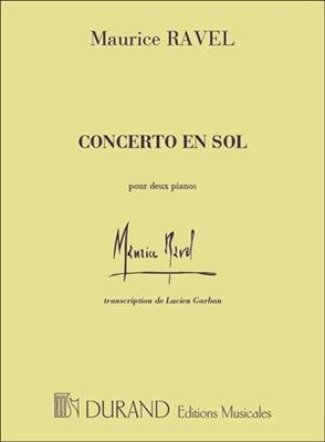 Concerto en sol (1931) Maurice Ravel / Maurice Ravel / Durand