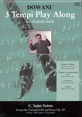 3 Tempi play along / Sonate en mib majeur op. 167, clarinette sib et piano / Saint-Sans Camille / Dowani