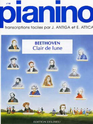 Pianino / Clair de lune (Pianino no 40) / Beethoven Ludwig van / Delrieu