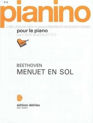 Pianino / Menuet en sol (Pianino no 72) / Beethoven Ludwig van / Delrieu