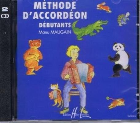 2 CD correspondant à la Méthode d'Accordéon vol. 1 débutants Manu Maugain / Maugain Manu / Henry Lemoine
