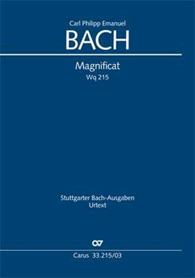 Magnificat Wq 215 / Bach Carl Philippe Emmanuel / Carus