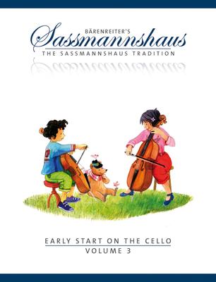 Bärenreiter's Sassmannshaus / Early Start 3  Egon Sassmannshaus  Cello Buch  BA8998 / Sassmannshaus Egon / Bärenreiter