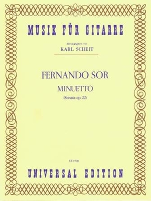 Minuetto (sonate op. 22) / Sor Fernando / Universal Edition