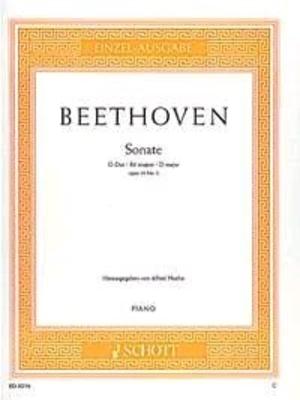 Sonate en ré majeur op. 10 no 3 / Beethoven Ludwig van / Schott