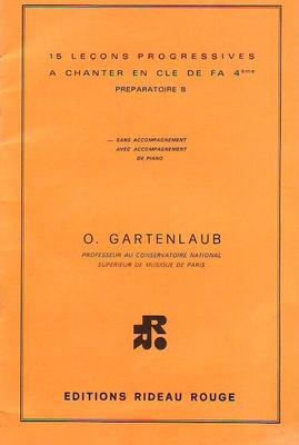 15 leçons de solfège à chanter / Gartenlaub O. / Rideau rouge