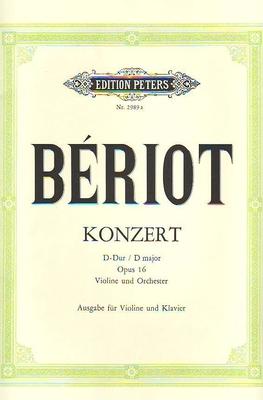 Concerto en ré majeur no 1op. 16 / Bériot Charles de / Peters