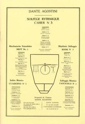 Solfège Rythmique vol. 3 / Agostini Dante / Agostini