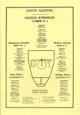 Solfège Rythmique vol. 4 / Agostini Dante / Agostini