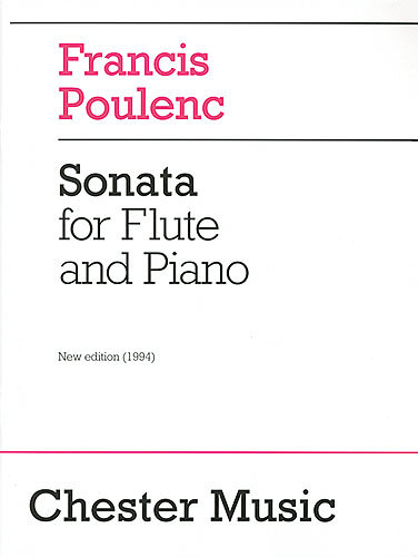 Francis Poulenc: Sonata For Flute And Piano / Poulenc, Francis (Composer) / Chester Music : photo 1