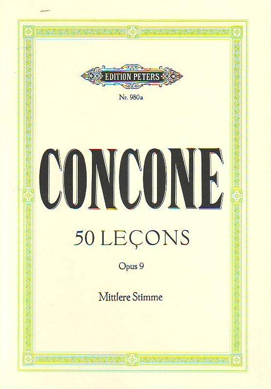 50 leçons op. 9, voix moyennes / Concone J. / Peters : photo 1
