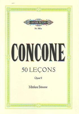 50 leçons op. 9, voix moyennes / Concone J. / Peters