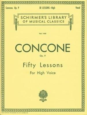 50 leçons op. 9, voix hautes / Concone J. / Schirmer